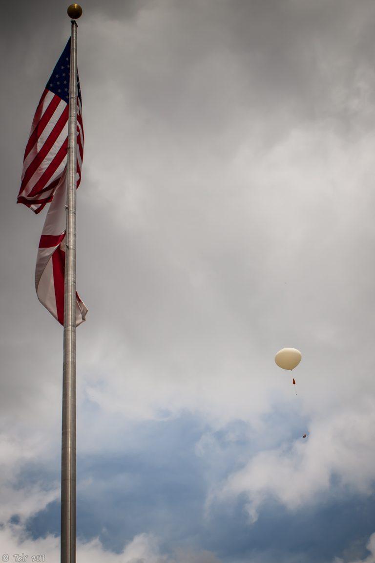 Go, weather balloon, go!